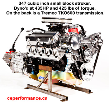347 cubic inch small block stroker crate engine - click for a larger image of this crate motor...