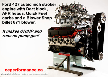Ford 427 ci high performance crate motor - click for a larger photo of this 670HP engine
